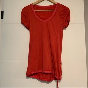 Lululemon | Drawstring Tee Shirt Size 4
